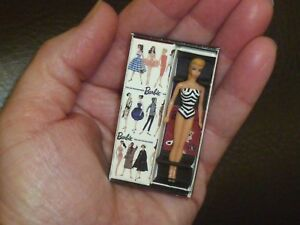 Barbie Repro / Reproduction Miniature 1959 Doll In Mini Box ~ Newly Unboxed
