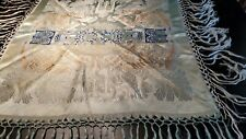 Vintage Taj Mahal Silk Piano Shawl Scarf Tablecloth