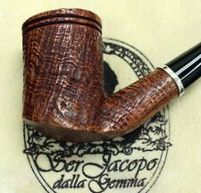 New & Unsmoked Ser Jacopo Picta Miro` 04 S2 Bent Sandblast with Silver Ring