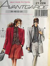 Avantgarde Pattern V21224 12-20 Jacket Skirt Walking Shorts Sewing Retro Uncut