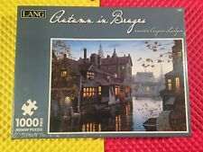 2013 Lang Autumn In Bruges by Eugene Lushpin 1000 Piece Puzzle New Sealed WOW