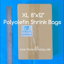 """500- Xl 8x12"""" Polyolefin (Smell Thru) Shrink Bags, For Small Gift Sets & Xl Item"""
