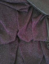 "Shiny Glitter Look Stretch Dance Net Mesh Fabric Material 60"" Purple"