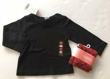 NWT Gymboree Glamour Kitty 18-24 Months Red Cat Leggings & Black Ruched Top