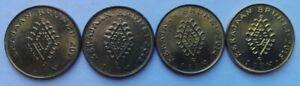 Brunei 4 pcs (2011, 2013, 2014 & 2015) 3rd Series 1 sen coin