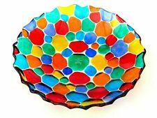 Luxurious Murano Art Glass Pezzato Studio Bowl with Label/Certificate/Box