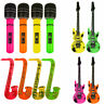 Inflatable Music Instruments Guitar/Microphone/SAXOPHONE COLOURFUL BLOW UP PART