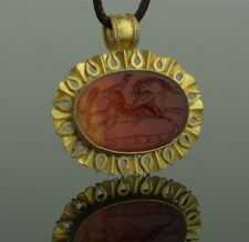 STUNNING LARGE ANCIENT ROMAN GOLD INTAGLIO PENDANT CIRCA - 2nd/4th Century AD