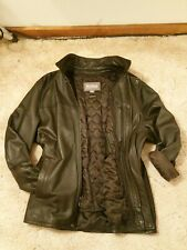 Wilson's Genuine Leather Jacket Coat w/ Zip-out Thinsulate Liner. Brown. Mens XL