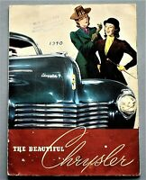 ORIGINAL 1940 CHRYSLER FULL LINE BROCHURE ~ 8 PAGES ~ 8.25 x 11 INCHES ~ 40CHRY