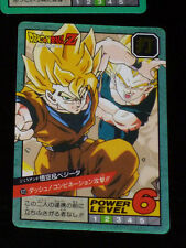 DRAGON BALL Z DBZ SUPER BATTLE POWER LEVEL 15 CARD DOUBLE PRISM CARTE 622 JAPAN