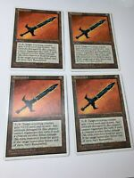 4x Playset Runesword  Artifact Chronicles MTG Magic The Gathering