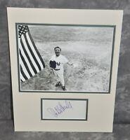 "Robert Merrill Autographed 3x5 Card Matted 11""x14"" NY Yankees Opera Star JSA COA"