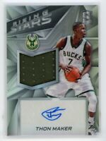 2016-17 Thon Maker 124/199 Auto Jersey Panini Spectra Rising Stars Rookie RC #11