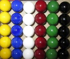30 Solid Color Replacement Marbles Wahoo Aggravation Board game 14mm GLASS 9/16""