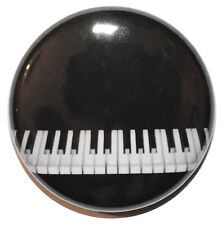 """1"""" (25mm) Black Piano / Keyboard Button Badge Pin - High Quality - MADE IN UK"""