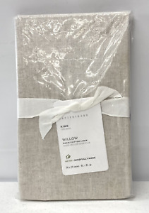 NEW Pottery Barn Willow Linen Cotton KING Sham~Flax