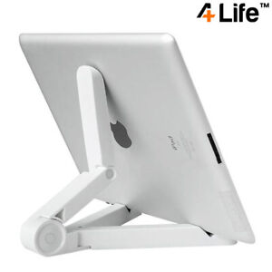 4Life™ Compact Portable Adjustable Tablet Stand for iPad, Galaxy Tab etc - White