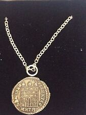 "Constantine Coin WC26 Made From English Pewter On 20"" Silver Plated Necklace"