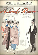 "A LONELY ROMEO Broadway Show Sheet Music ""Will O' Wisp"""