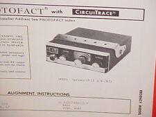 1973 REGENCY CB RADIO SERVICE SHOP MANUAL MODEL SPRINT/23 II (CB-293)