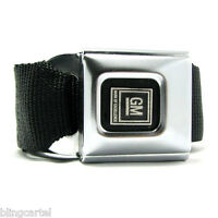 GM Logo Official Licensed Seatbelt Authentic Black Seat Belt Style Buckle Down