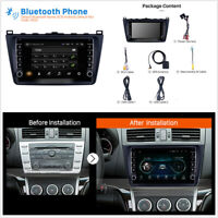 For Mazda 6 Rui Wing 2008-14 2DIN 1GB+16GB Car Stereo GPS Navigation Unit Player