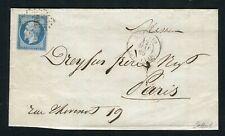 Rare lettre d'Ajaccio ( Corse 1858 ) - Cachet Maritime AJACCIO BAT A VAP