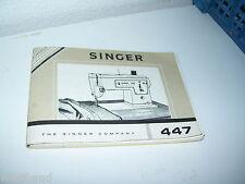 Nähmaschine Singer  447   Anleitung  auf holländisch