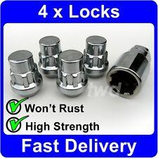 4 x ALLOY WHEEL LOCKING NUTS FOR MAZDA (M12x1.5) SILVER LUG STUD BOLT SET [V0b]