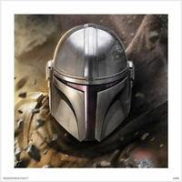 Star Wars: The Mandalorian - Helmet POSTER 60x60cm NEW art print decoration