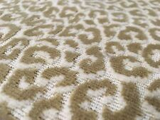 Scalamandre Epingle Animal Velvet Upholstery Fabric Panthera Velvet Camel 1.13yd