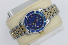 Tag Heuer WD1423 1500 Professional Blue SS Watch Womens Gold 2 Tone Mint Crystal