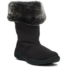 NIB PROPET Madison Tall Winter Boot Black 7 Fur NEW Shearling Waterproof $104