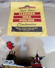 """New Microfiber Towel! Vintage Gm Approved Accessories Label - Quality 16"""" x 16"""""""