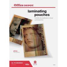 Office Depot A3 laminazione BUSTE 150 MICRON CONFEZIONE 100 FOGLI Laminator