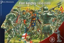 PERRY MINIATURES 28mm Foot Knights 1450-1500 War of Roses Model Kit FREE SHIP