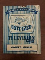 Setchell-Carlson Unit-Ized Television Owners Manual Vintage TV Pamphlet Original