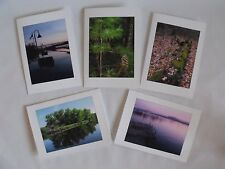 New listing Five Handmade Beautiful Outdoor Scenic Photo Greeting Cards!