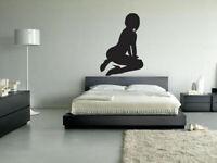 Wall Vinyl Sticker Decals Mural Naked Hot Stripper Girl bedroom decor art (Z031)