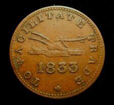 CANADA. ONTARIO. UPPER CANADA. HALF PENNY TOKEN 1833. Breton 532.