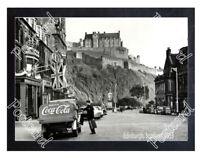 Historic Coca-Cola delivery truck Edinburgh 1953 Advertising Postcard