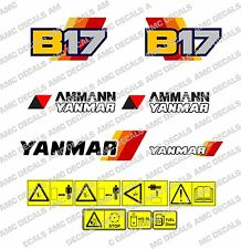 YANMAR B17 DIGGER DECAL STICKER SET