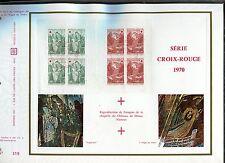 DOCUMENT CEF PREMIER JOUR  1970 TIMBRE N° 1661 -1662  CARNET  CROIX ROUGE