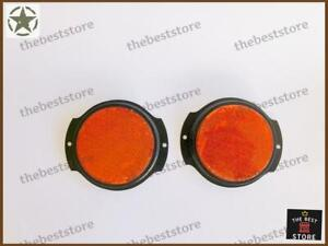 NEW MILITARY AMBER(ORANGE) SIDE MARKER ASSEMBLY (REFLECTOR) JEEP & WILLYS(SET 2)
