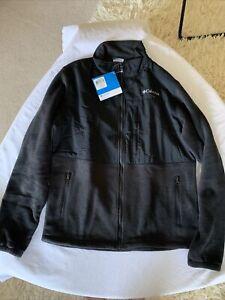 Columbia Loganville Trail 2.0 Black Full Zip Fleece Jacket Mens NWT Size M