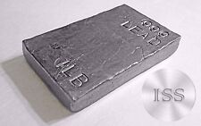 Fine .999 Lead 1 lb Bar, Hand Poured and Stamped Uniquely Crafted Metal Bullion