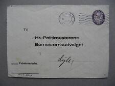 DENMARK, off. cover 1945, Danske Statsbaner 10 Ø lila (61, form 31 b)