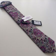 BNWTs Holland Esquire LIBERTY Kitty Grace print tie, Multi, wedding.