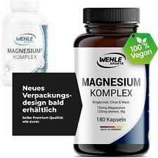 Magnesium Komplex hochdosiert mit Bisglycinat, Malat, Citrat 180 Kapseln